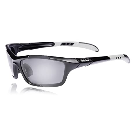 7763ce41819 Hulislem S1 Sport Polarized Sunglasses Sunglasses for Men Women Mens Womens  Running Golf Sports FDA Approved