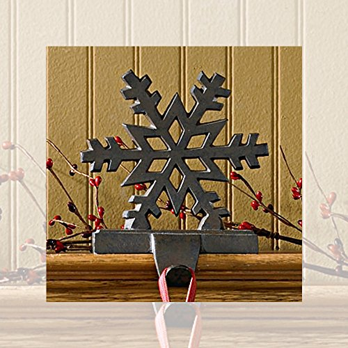 Holder Stocking Holiday (Park Designs Iron Snowflake Stocking Hanger)