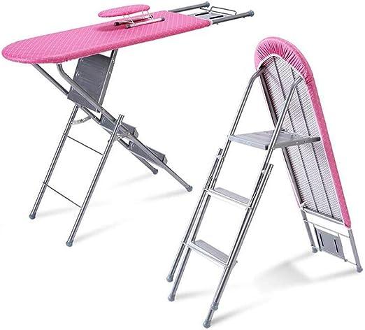 HURRUI- Cubierta de la Tabla de Planchar Mesa de Planchado Vertical Plegable Grande Home Hotel Escalera de Doble Uso con reposapiés: Amazon.es: Hogar