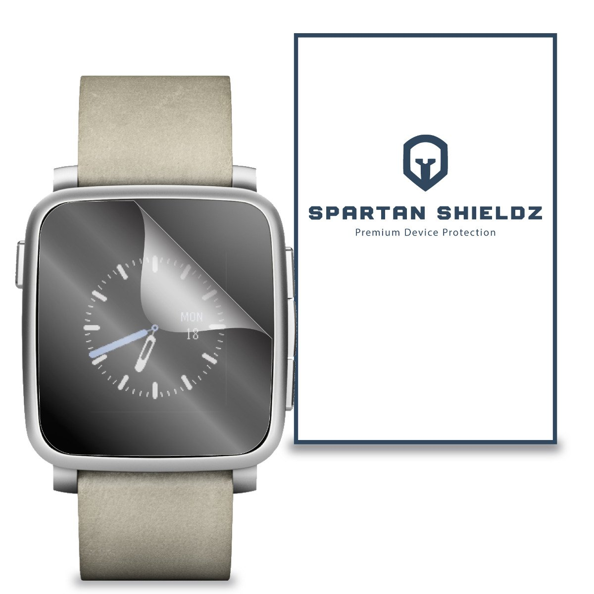 6X - Spartan Shield Premium Screen Protector For Pebble Time Steel Smartwatch - 6X