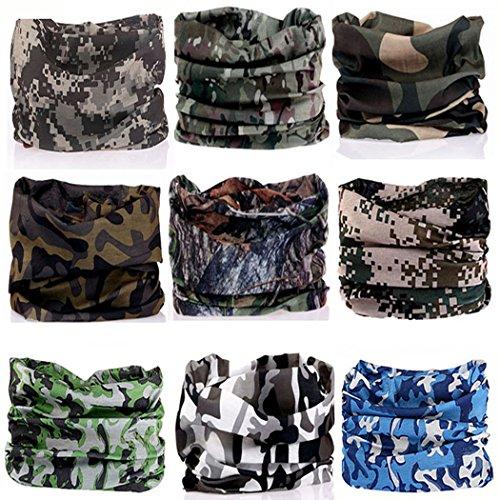 CAMO Headbands Scarf Head Wrap Mask Sweatband -12 in 1 Multifunctional Sport Headband Neck Warmer for Yoga, Camping, Fishing, Hiking, Running, Motorcycling, Skiing ()