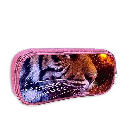 Redfhkpw Tiger - Estuche para lápices y bolígrafos, diseño ...