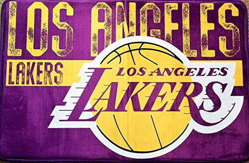 The Northwest Company NBA Los Angeles Lakers Embossed Memory Foam Rug, One Size, Multicolor by The Northwest Company