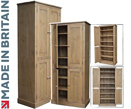 Heartland Pine Solid Pine Storage Cupboard Handcrafted Waxed 4