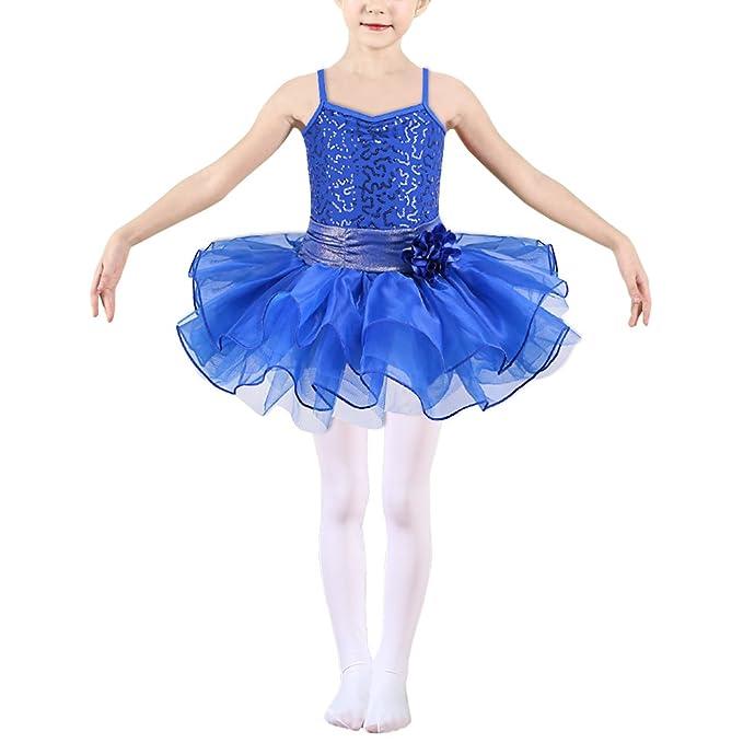 HUAANIUE Chicas Tutu Ropa de gimnasio Ropa de ballet Ropa de ejercicio