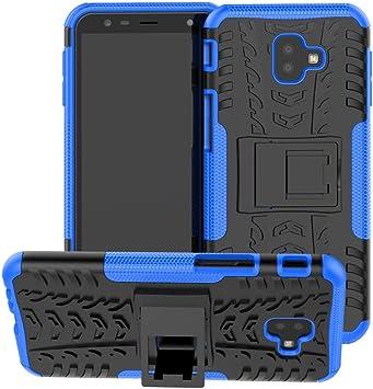 CaseExpert Samsung Galaxy J4 Plus Funda, Heavy Duty Silicona híbrida con Soporte Cáscara de Cubierta Protectora de Doble Capa Funda Caso para Samsung Galaxy J4+ / J4 Plus: Amazon.es: Electrónica