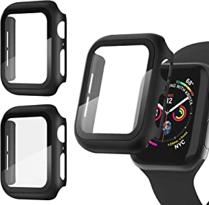 Recoppa [3 Pack] Apple Watch case with Screen Protector for Apple Watch 42mm Series 3/2/1, Full Hard Cover Ultra-Thin Bumper HD Clear Protective Film Scratch Resistant for Women Men iWatch