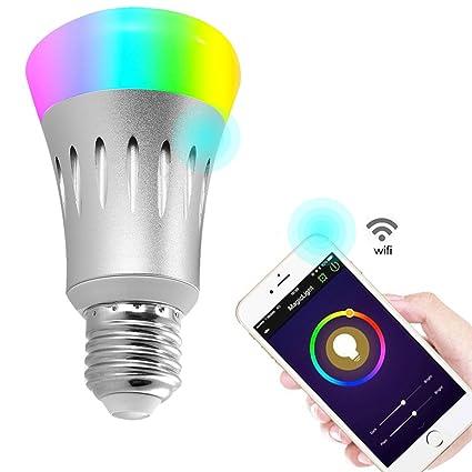 Wifi Light Bulb >> 7w E27 Wireless Wifi App Remote Control Smart Bulb Lamp Led Rgb Dimmable Light Smart Bulb That Works With Amazon Echo Alexa Voice Control Google