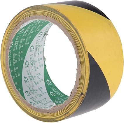 larghezza 45 mm Nastro adesivo per segnalazione di pericolo nero//giallo