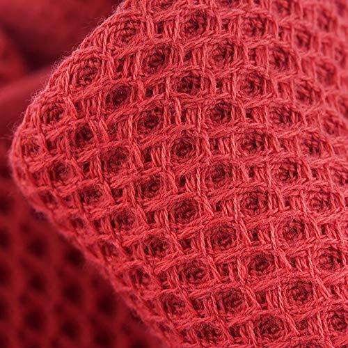 Bolsillos De Tamaño Lujo Familiar Metro Albornoz Y Unisex Pijamas Sauna Spa Casuales Algodón Toalla color Baño Servicio Red Red zAAESwqaC