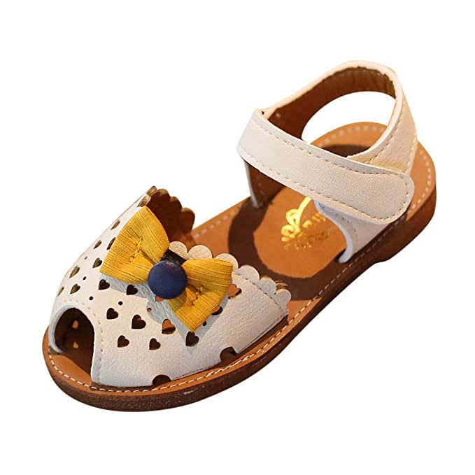 02e1ee46c32ef Amazon.com: Summer Infant Sandals for Kids,Vibola Baby Girls Bowknot ...