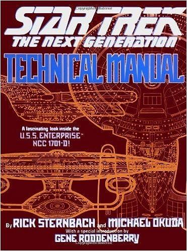 Téléchargement de livre d\'électronique gratuit Star Trek The Next Generation: Technical Manual by Sternbach, Rick, Okuda, Michael (1991) Paperback PDF PDB B00M0M6NNY
