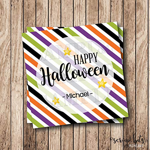 Moira Personalized Printable Happy Halloween Tags Printable Halloween Favor Tags]()