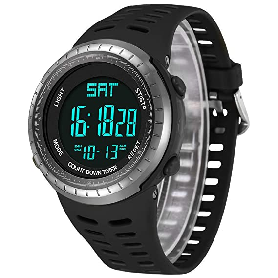 venta al por mayor garantía limitada disfruta del envío gratis Reloj deportivo digital para hombre, relojes militares negros, reloj de  pulsera electrónico casual con calendario luminoso, alarma de cronómetro,  ...