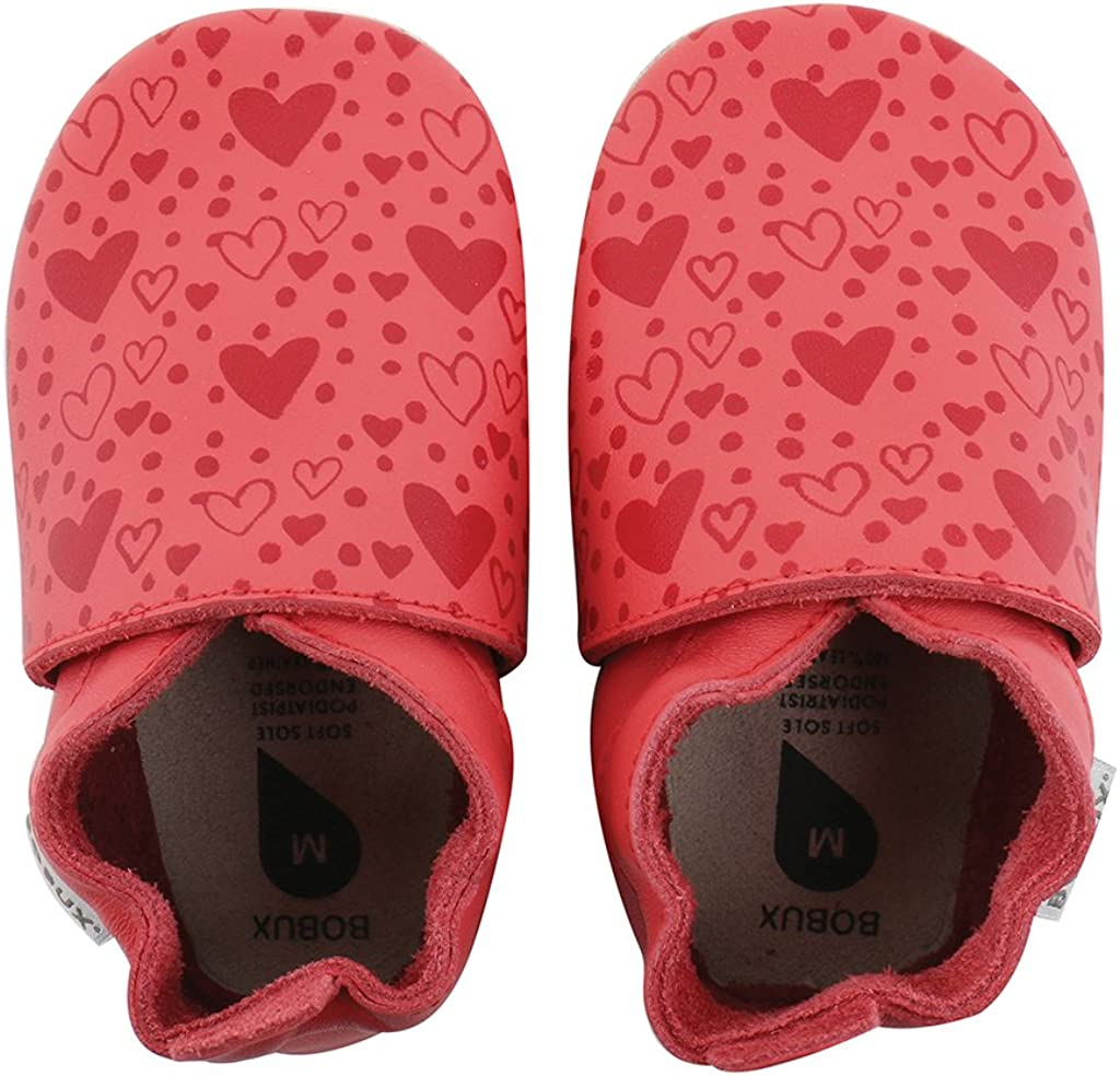 Semelles G/éantes Douces Coeur De Corail /Épic/é Chaussures B/éb/é Bobux