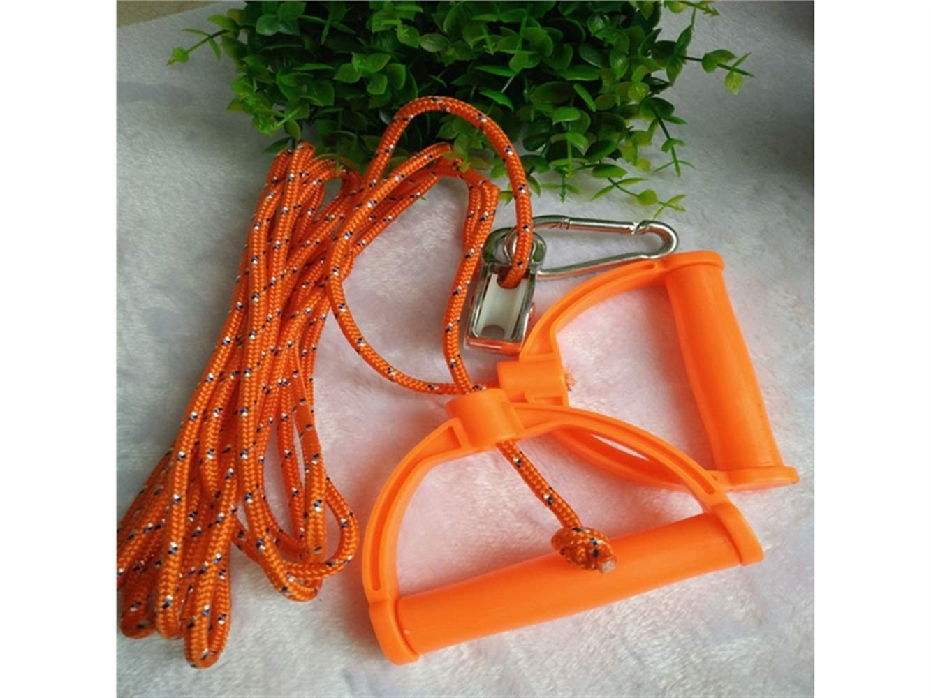 Hand Strengtheners Multifunctional Pull Fitness Rope Pulley Ring Pull Rope Home Fitness Equipment(Orange) Andosange