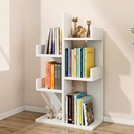 Amazon.com: Wood Bookcase Bookshelf Living Room Home Office ...
