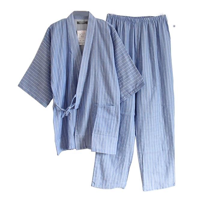 Fancy Pumpkin Traje de Pijama de Kimono de Gasa de Estilo japonés para Hombres japoneses #