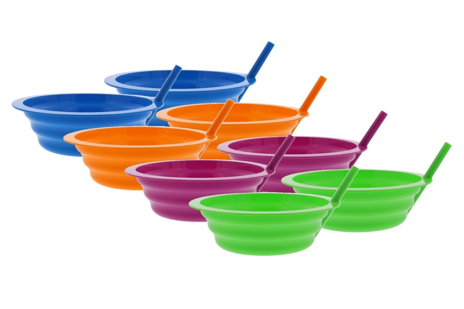 最低価格の 矢印sip-a-bowl with Built in in Straw、22オンス with、ブルー、ピンク、グリーン Built、オレンジ( 8パック) B079LT39DH, HEART OF WINE:848ed8e4 --- beyonddefeat.com