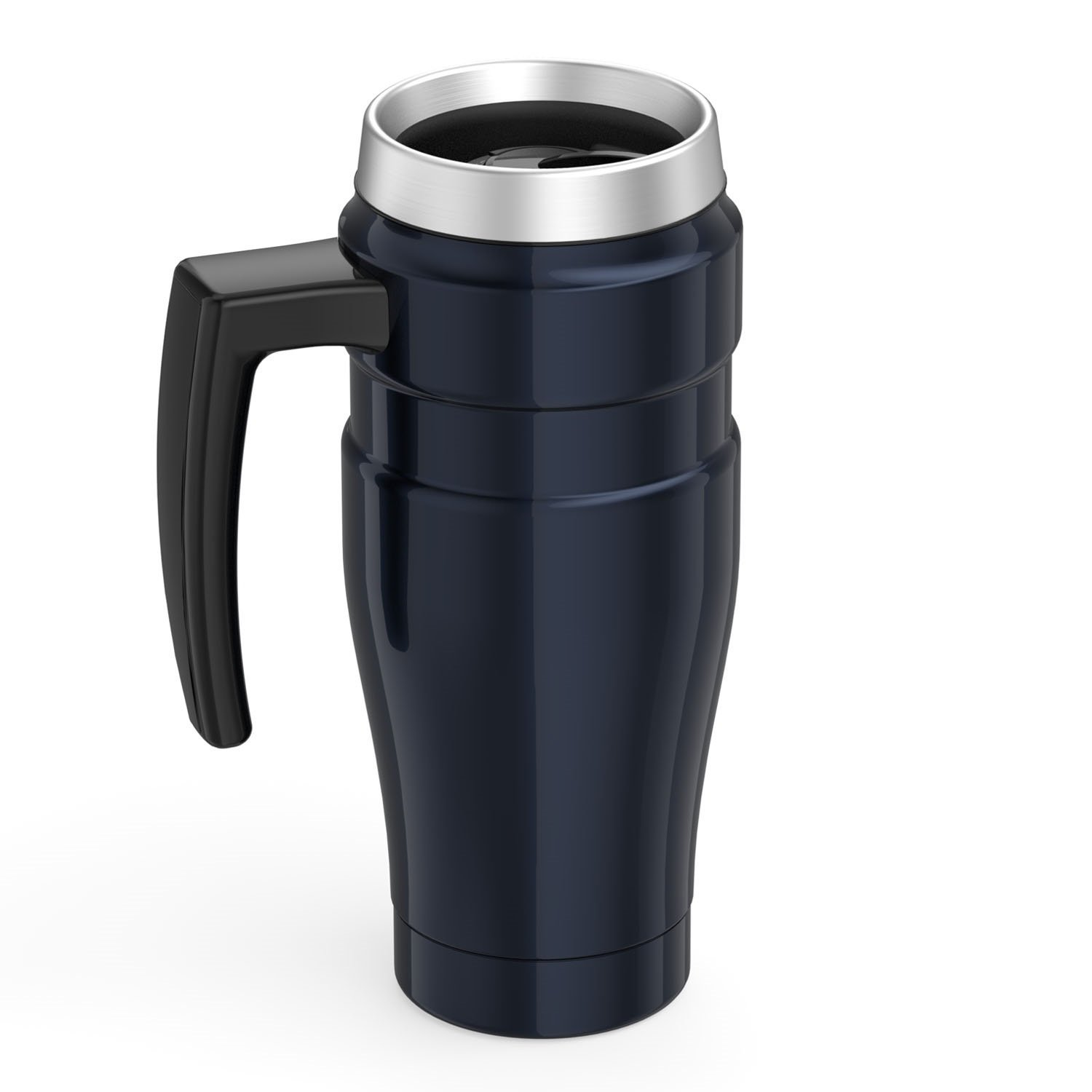 Thermos Stainless King 16 Ounce Travel Mug with Handle, Midnight Blue by Thermos (Image #4)