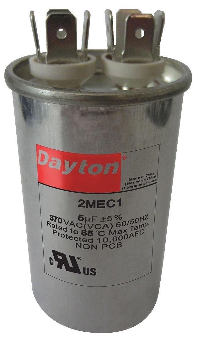 6 MFD 370V Motor Run Capacitor Round