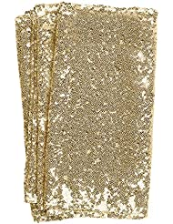 Lingu0027s Moment Sparkly Sequin Table Runner Champagne 12 X 108 Inch (Hem  Edge) For
