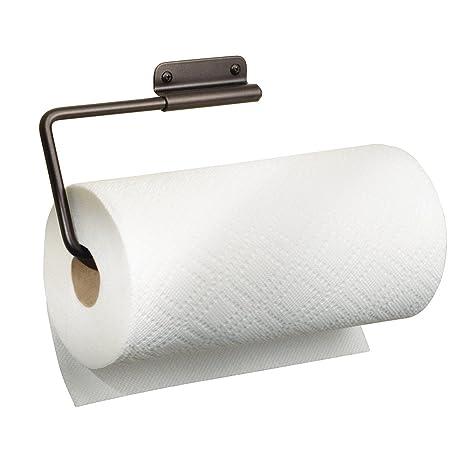 mDesign Küchenrollenhalter Wand – Rollenhalter Küchenrolle – Halter für  Küchenrolle – für Schrank- oder Wandmontage – 30,5 cm x 1,9 cm x 11,5 cm
