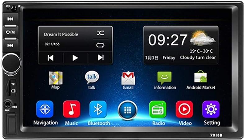 Android Coche Radio 2 DIN GPS, Podofo Quad Core 2G+32G 1080P FM Reproductor de Video con 7