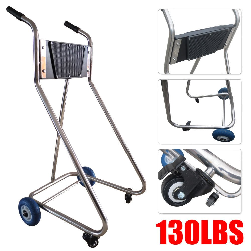 Stainless Steel Boat Outboard Motor Stand Cart Dolly with Wheel Enginee Carrier Benflyworld