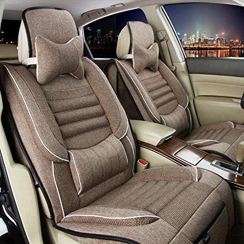 チャイルドシートカバーチャイルドシートクッション 5一般的な車のクッションカバーリネンデラックス版(10セット)一般的な車のクッションカバーフォーシーズンズユニバーサル4色オプション カーシートマットカーシートプロテクター (色 : 1)