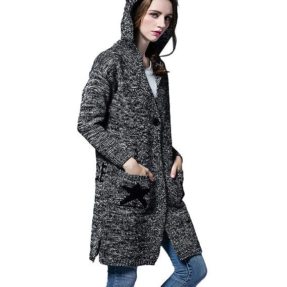 Amazon.com: Women Winter Warm Sweaters Coat Jacket Parka Outwear Overcoat Cardigan Top Coats (One Size, Black): Clothing