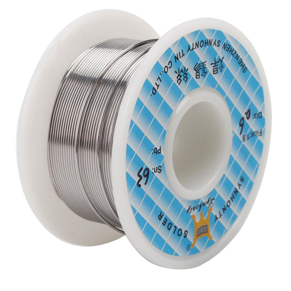 1x 0.6mm Rollo de Alambre Cable Soldadura Soldar Estaño FLUX 1.8%: Amazon.es: Bricolaje y herramientas