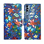 AD Enterprises Blue Pattern Flip Cover for Tecno Spark 7 Pro