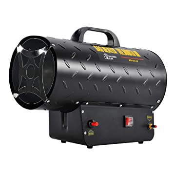 Garden mile/® 10Kw Industrial Heater Electric Fan Assisted Space Heaters LPG Portable Gas Heater Powerful Propane Heater Indoors Portable Room Heater