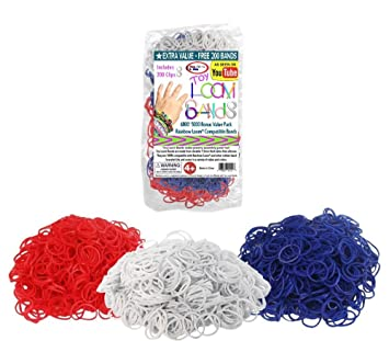 8d50961b Image Unavailable. Image not available for. Color: 5000 pc Rubber Band  Refill Mega Value Pack with Clips - 100% Compatible with all