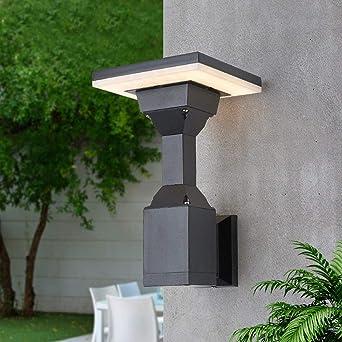 Luces de jardín comunitario luces de césped comunitarias al aire libre simple paisaje moderno jardín interior y exterior lámpara de pared@Aplique cuadrado 150 * 150 * 260_Blanco cálido: Amazon.es: Iluminación