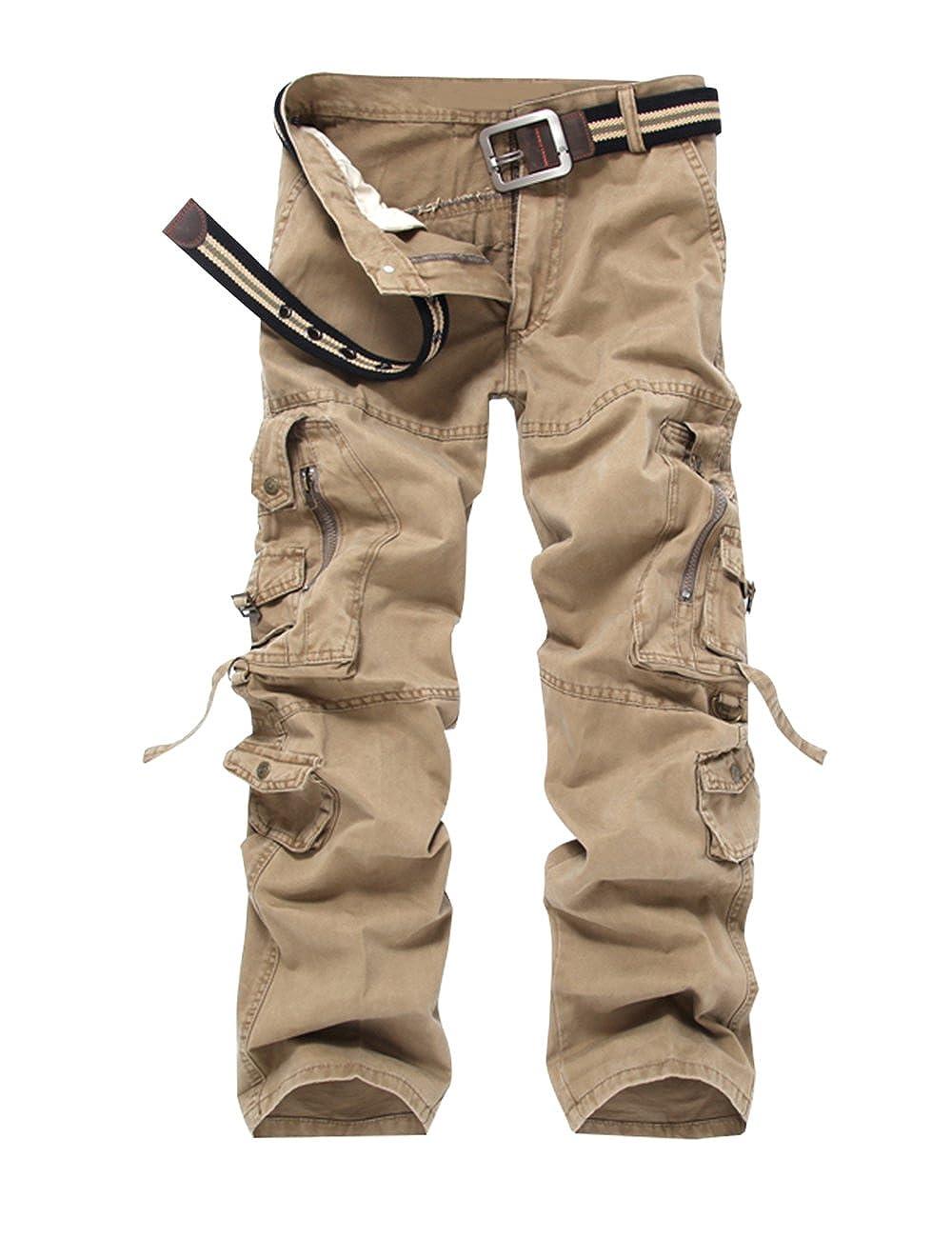 Cukke Men's Cargo Pants Multi-Pockets Cotton Washed Outwear WUXI SHUAILANDE USA-CUAY-K03