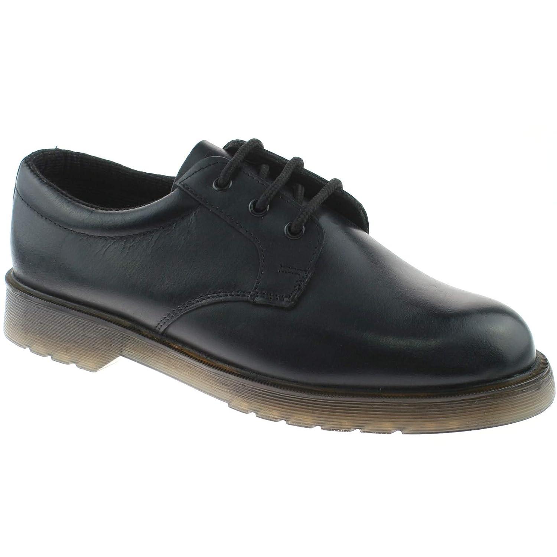 TALLA 45 EU. Grafters - Zapatos de cordones de cuero para hombre negro negro