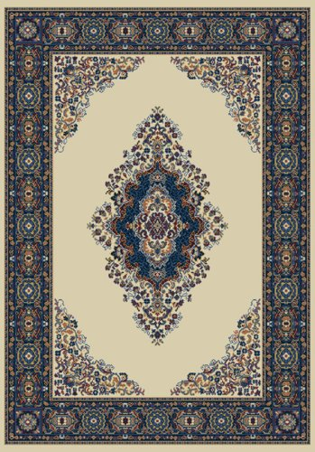 Manhattan Cathedral Cream Rug Rug Size: 1'10