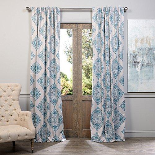 Half Price Drapes BOCH KC27A 108 Blackout Curtain Henna Teal