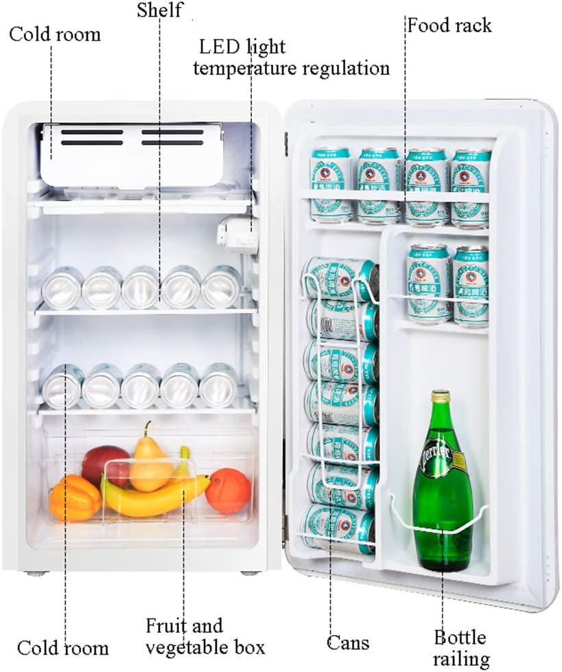 refrigerador de una Puerta, congelador, 92L, Tipo Arco Retro ...