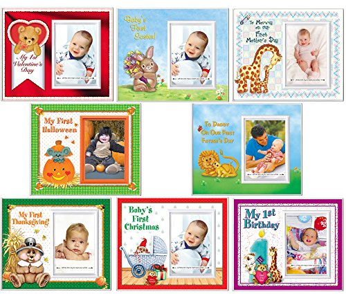 """Baby's First Year 8-Photo Frame Gift Set 