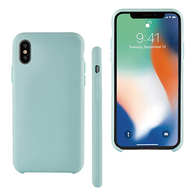 sale retailer 4ec3d 5833a Seasonal Discovery iPhone X Case, Hybrid Designed, Slim Fit Dual Layer Soft  Silicone Hard Back Cover Bumper, Protective Shock-Absorption Skidproof ...