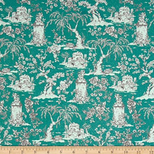 - Stof France 0561433 Le Quilt Belle Epoque Teal Fabric by The Yard