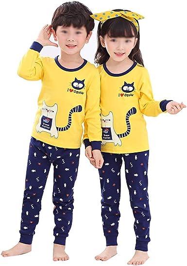 Yongyong Pijamas Infantiles De Algodón Sección Delgada Otoño ...