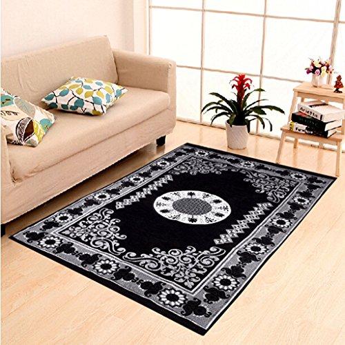 HOME ELITE Black Ethnic Design Velvet Touch Carpet ( 140×200 cm) , RG-CRT-268