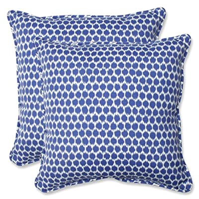 Pillow Perfect Outdoor Seeing Spots Throw Pillow, 18.5-Inch, Navy, Set of 2 - Includes two (2) outdoor pillows, resists weather and fading in sunlight; Suitable for indoor and outdoor use Plush Fill - 100-percent polyester fiber filling Edges of outdoor pillows are trimmed with matching fabric and cord to sit perfectly on your outdoor patio furniture - patio, outdoor-throw-pillows, outdoor-decor - 61PC2 0BWUL. SS400  -