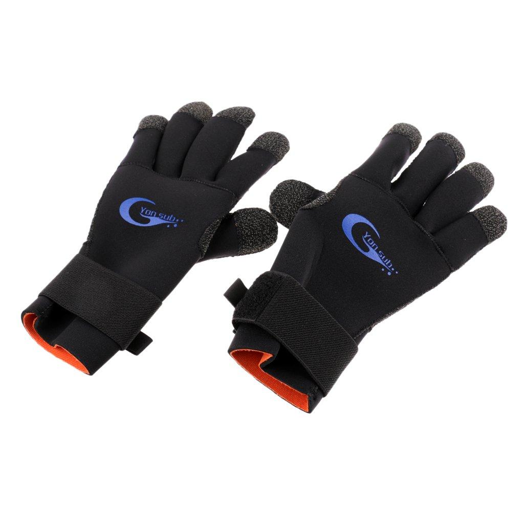homyl 3 mmネオプレン暖かい熱スキューバダイビングサーフィンシュノーケリングスピアフィッシングウェイクボードジェットスキー保護用ウェットスーツ手袋 Medium  B079F4W64L