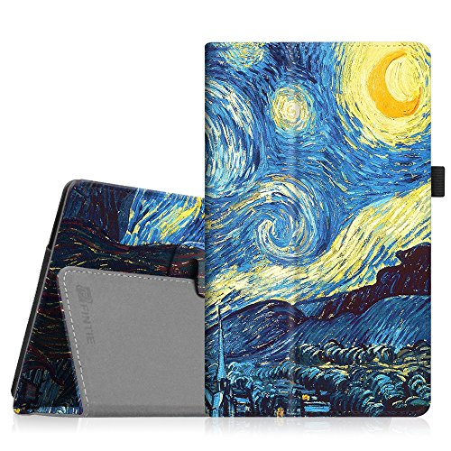 Fintie Ellipsis 8 HD Case (2016 Release) - PU Leather Stand Cover with Auto Sleep / Wake Feature for 8' Verizon Ellipsis 8 HD (QTASUN1G/QTASUN1B) / GizmoTab (QTASUN2) Tablet, Starry Night