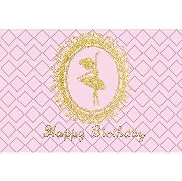 YongFoto 3x2,5m Cumpleaños Vinilo Fondo Feliz cumpleaños Oro ...